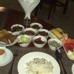 Petit-déjeuner du Nanda Garden Hotel, Bagan, Myanmar