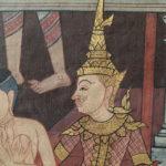 Fresque murale, Wat Pho, Bangkok, Thaïlande