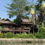Maison sur les klongs, Bangkok, Thaïlande