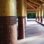 Piliers du grand palais, Mandalay, Myanmar