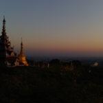 Couché de soleil depuis Mandalay Hill, Mandalay, Myanmar