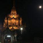 Temple dans la nuit, Bagan, Myanmar