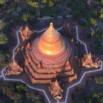 Pagode vue du ciel, Bagan, Myanmar