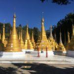 Stupas de Buddha's cave, Kalaw, Myanmar