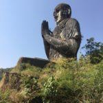 Statue de moine au grand Bouddha, Moulmein, Hpa-An