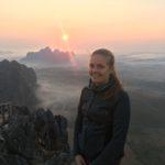 Lever de soleil au Mont Taung Wine, Hpa-An, Myanmar