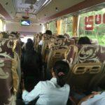 Le bus pour Kyaikto, Myanmar