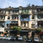 Façades dans Yangon, Myanmar