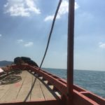Direction Koh Tonsay, Kep, Cambodge