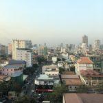 Vue de Phnom Penh, Cambodge