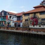Street art en bord de rivière, Malacca, Malaisie
