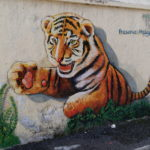Tiger street art, Ipoh, Malaisie