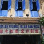 Devanture du magasin d'enseignes, Ipoh, Malaisie
