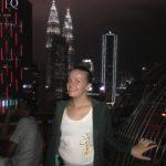 Vue sur Petronas Towers à l'Helilounge, Kuala Lumpur, Malaisie