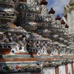 Base du temple, Wat Arun, Bangkok, Thaïlande