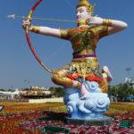 Statue sur le champ de foire, Bangkok, Thaïlande