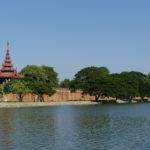 Douves du grand Palais, Mandalay, Myanmar
