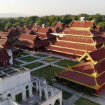 Grand palais vu du dessus, Mandalay, Myanmar