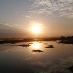 Couché de soleil sur U-bein bridge, Mandalay, Myanmar