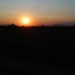 Coucher de soleil, Bagan, Myanmar
