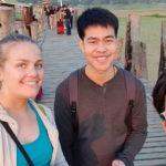 Selfie on the bridge, Mandalay, Myanmar