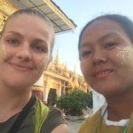 Joues avec du thanaka, Mandalay, Myanmar
