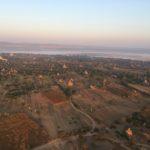Premières lueurs sur les temples, Bagan, Myanmar