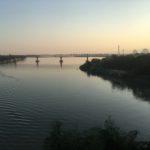 Vue du pont, Hpa-An, Myanmar