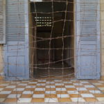 Barbelés à S-21, Phnom Penh, Cambodge
