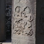 Sculptures, Angkor, Cambodge