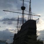 Reproduction bateau hollandais, Malacca, Malaisie