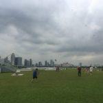 Vue depuis Marina barrage et cerf-volants, Singapour